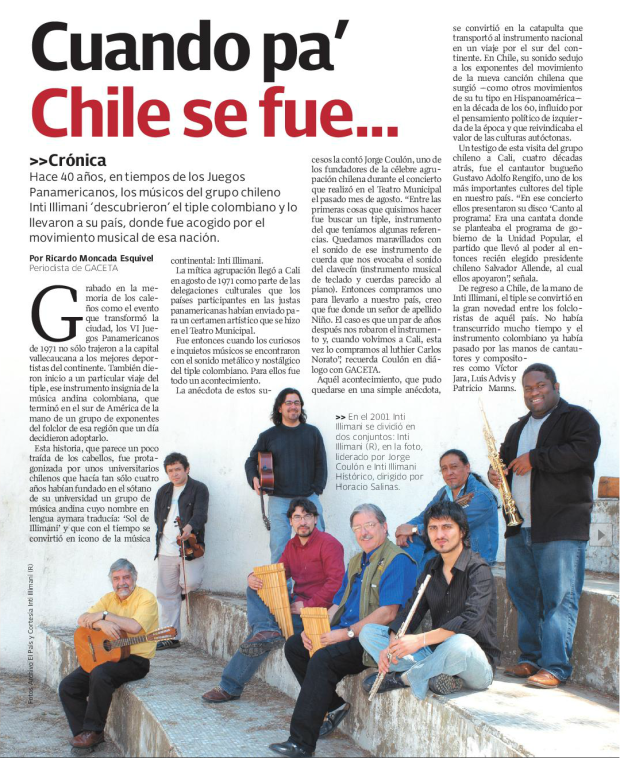 Inti Illimani y el tiple colombiano